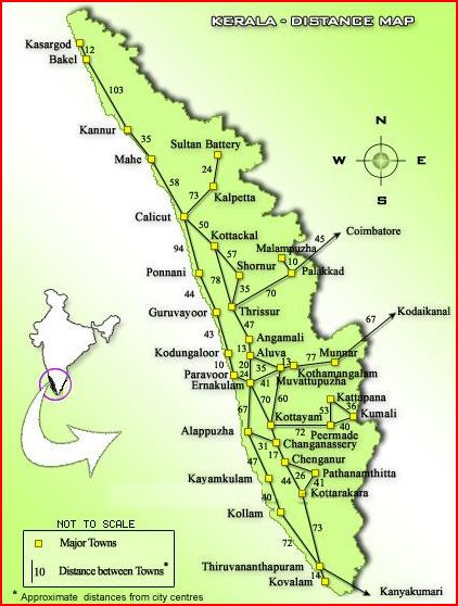 Kerala Distance Map